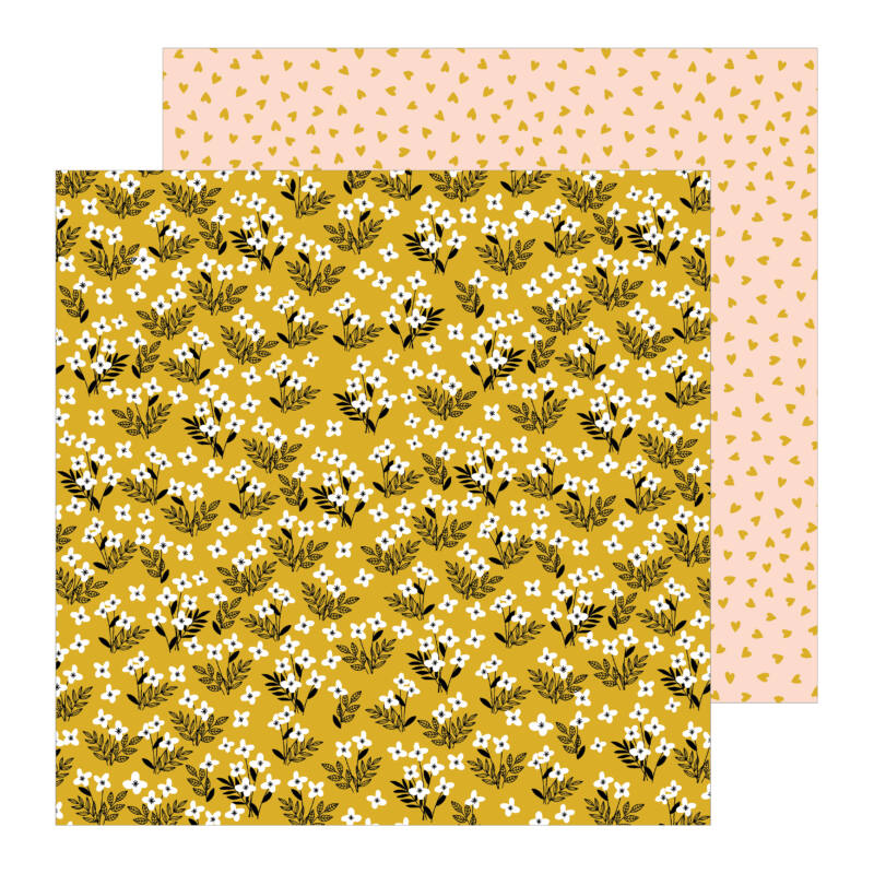 Pebbles - This is family 12x12 Patterned Paper - Golden Field