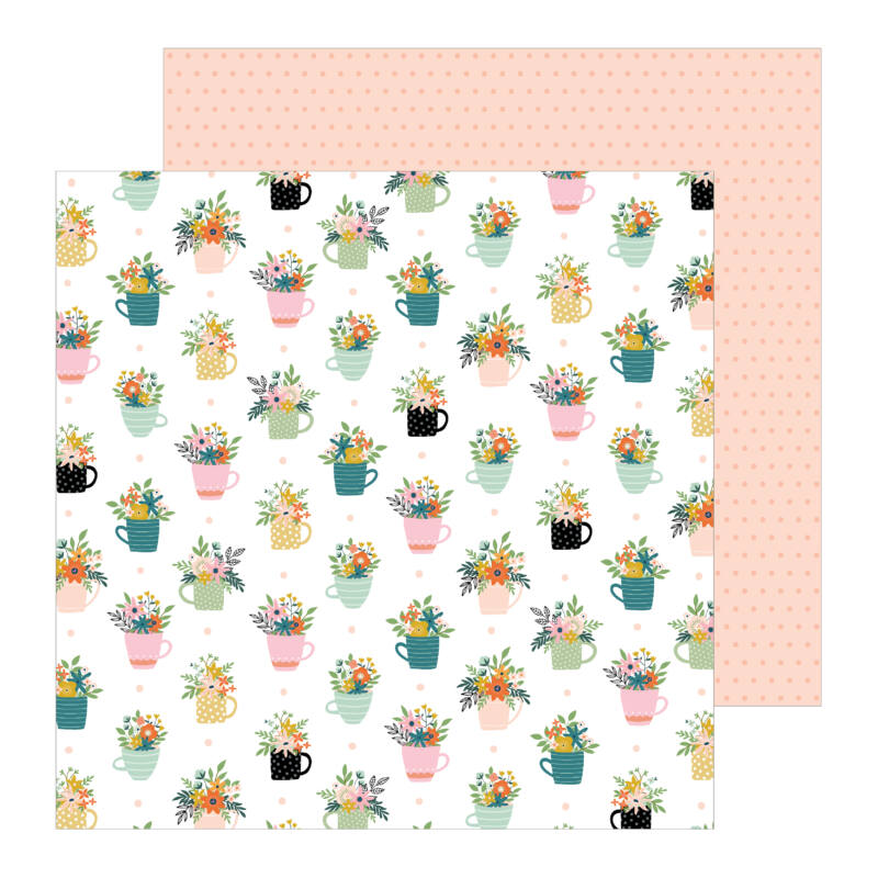 Pebbles - This is family 12x12 Patterned Paper - House Plants