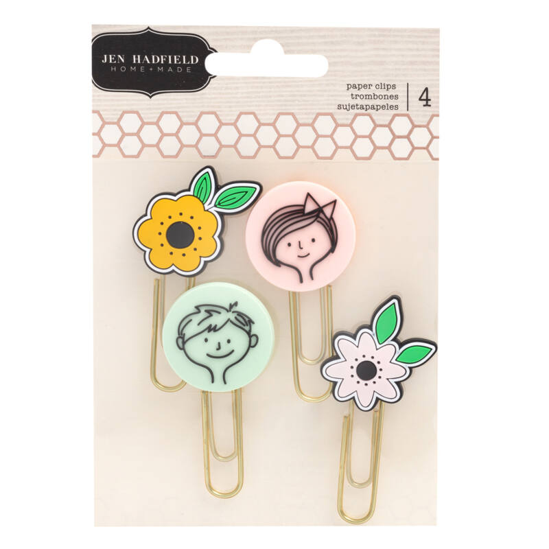 Pebbles - This is family Paper Clips (4 Piece)