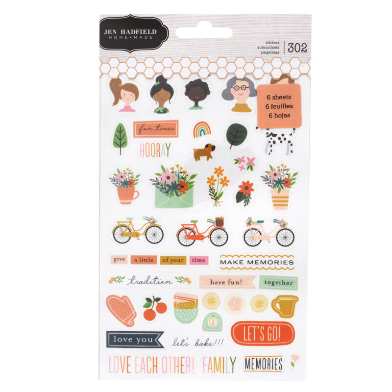 Pebbles - This is family Mini Sticker Book (302 Piece)