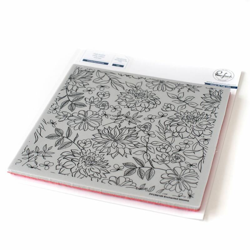 Pinkfresh Studio - Enchanted blooms 6x6 Cling Rubber Stamp