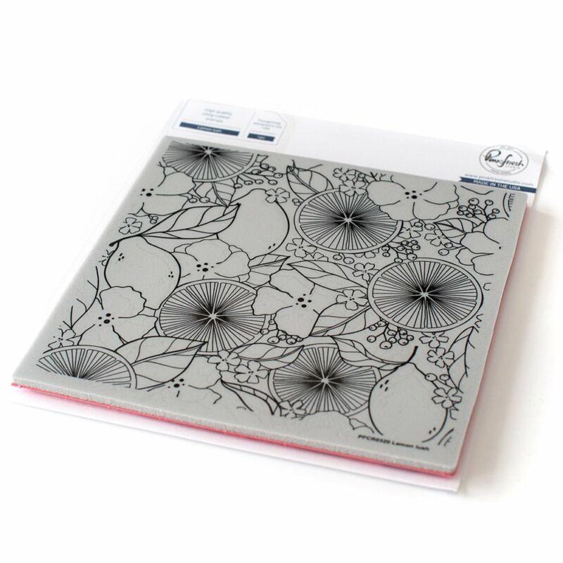 Pinkfresh Studio - Lemon lush 6x6 Cling Rubber Stamp