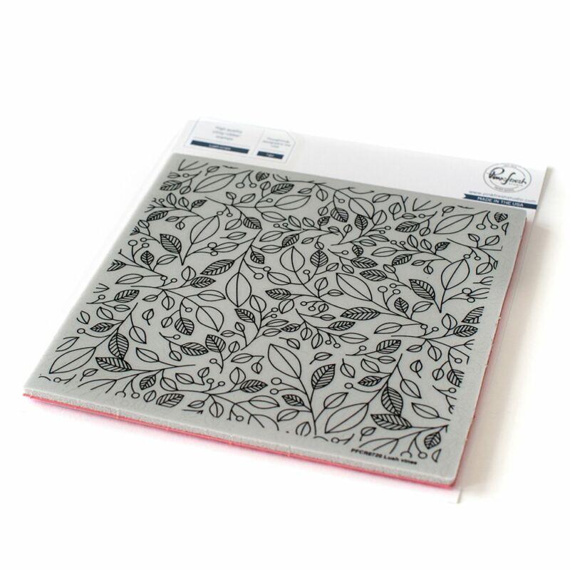 Pinkfresh Studio - Lush vines 6x6 Cling Rubber bélyegző