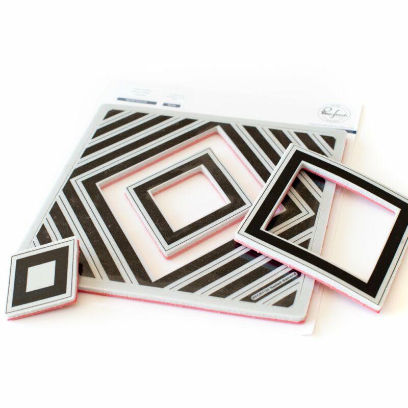 Pinkfresh Studio - Nested Diamond Cling Rubber Stamp