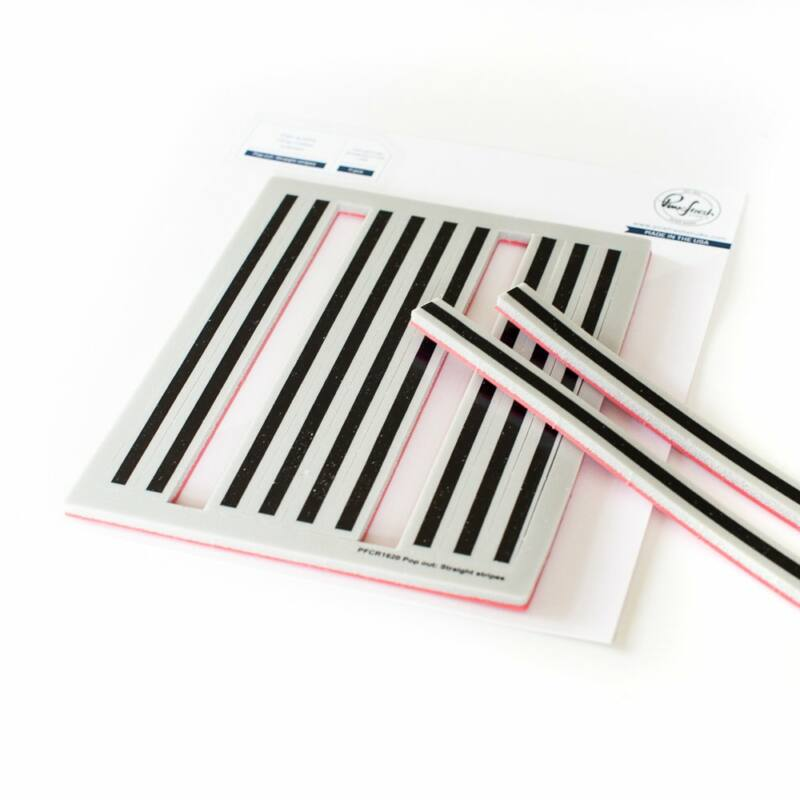 Pinkfresh Studio - Pop Out: Straight Stripes cling stamp