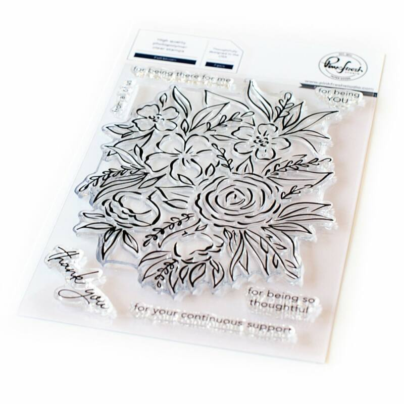 Pinkfresh Studio - Full bloom 4x6 Stamp
