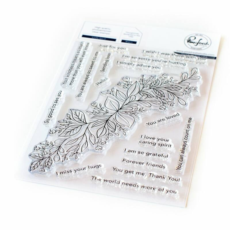 Pinkfresh Studio - Leafy decor 4x6 Stamp