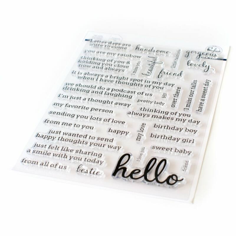 Pinkfresh Studio - Simply Sentiments - Hello 6x8 Stamp