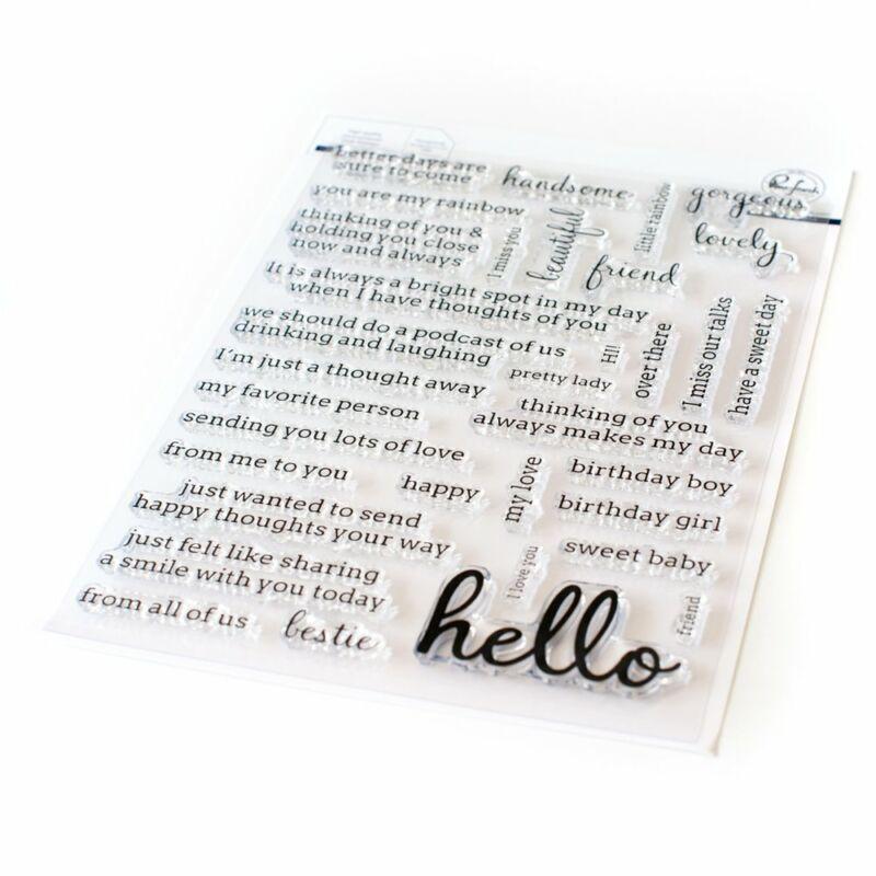 Pinkfresh Studio - Simply Sentiments - Hello 6x8 Stamp