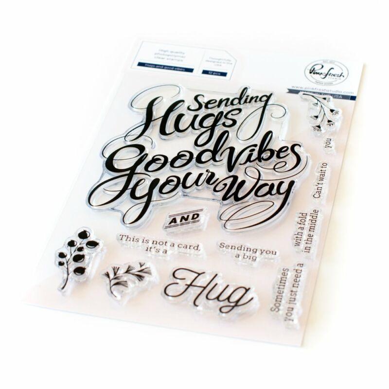 Pinkfresh Studio - Hugs and Good Vibes 4x6 Stamp