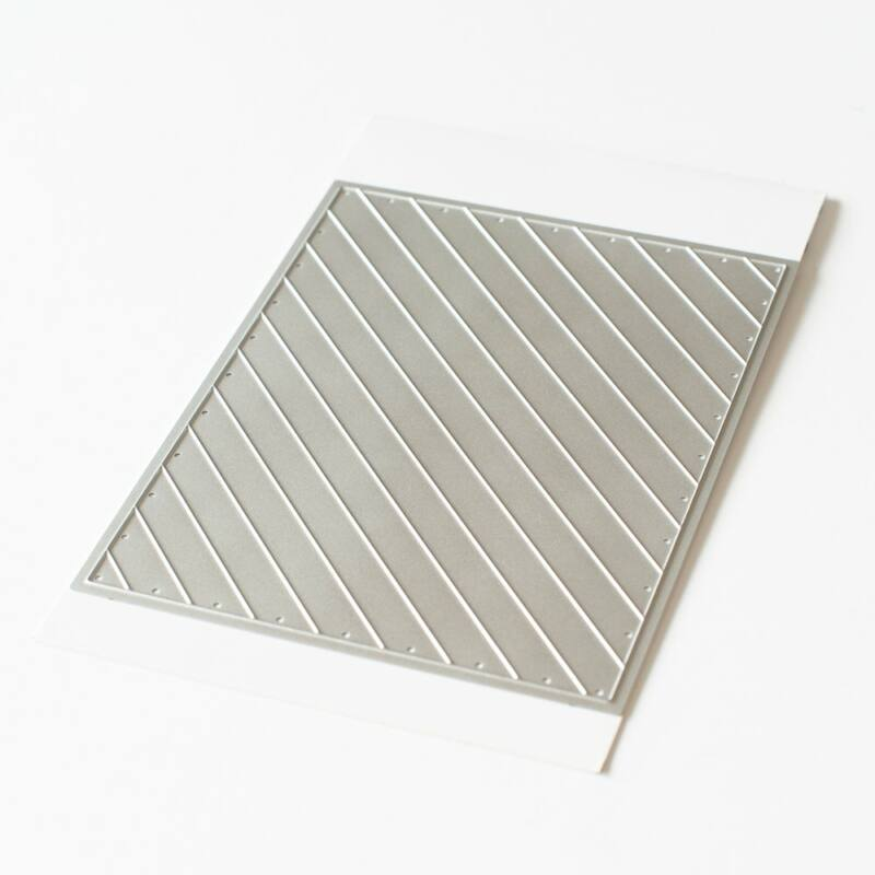 Pinkfresh Studio - Color Block Diagonal Stripes Die