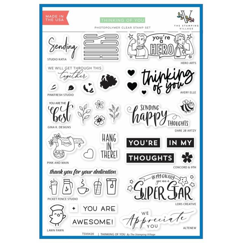 Stamping Village Collaboration Stamp Set - Thinking of you