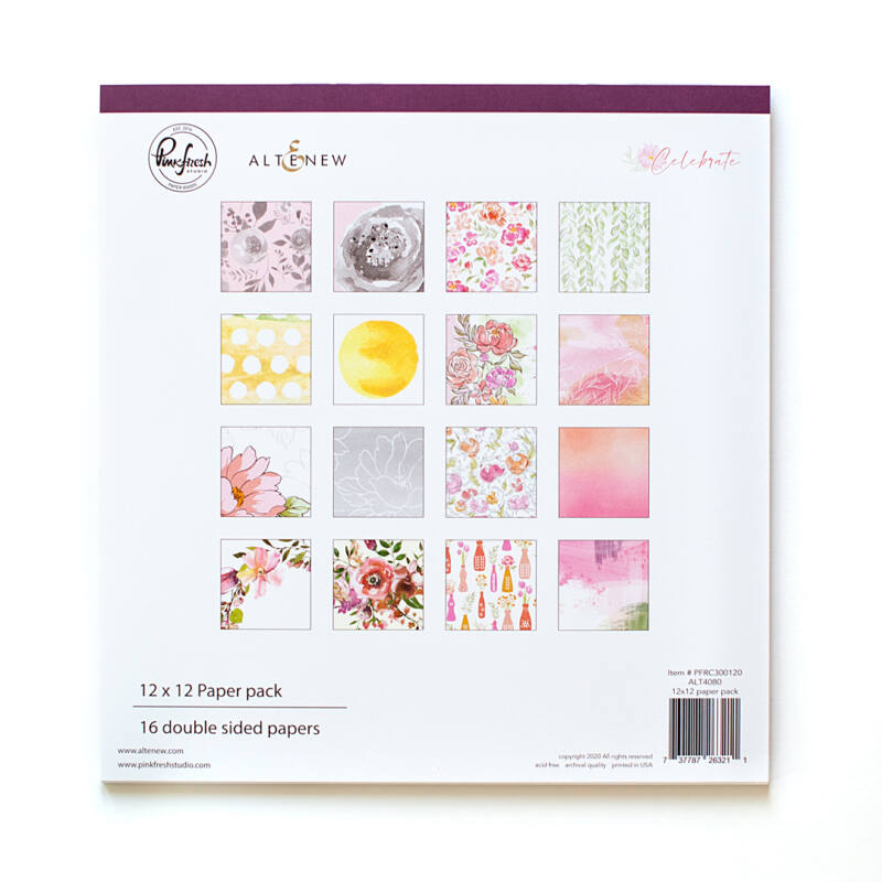 Pinkfres Studio + Altenew - Celebrate 12x12 Paper Kit