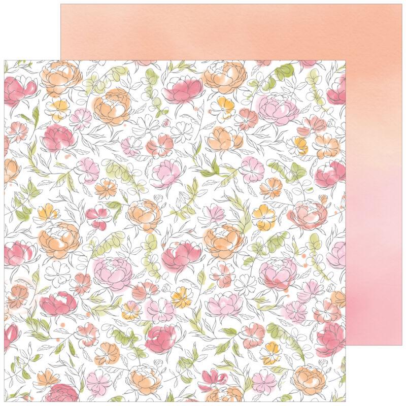 Pinkfres Studio + Altenew - Celebrate 12x12 Paper - Progress
