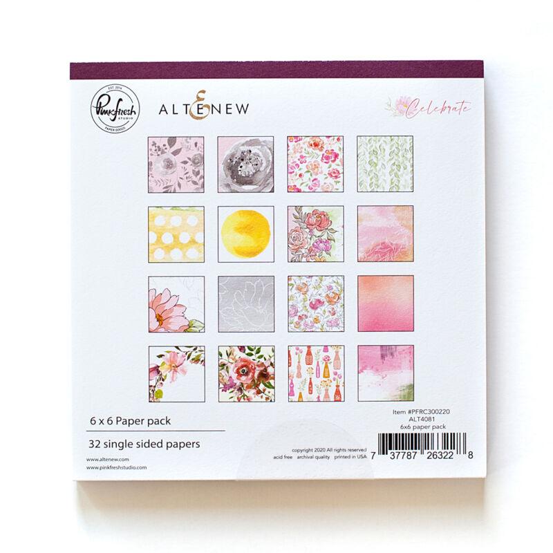 Pinkfres Studio + Altenew - Celebrate 6x6 Paper Pad
