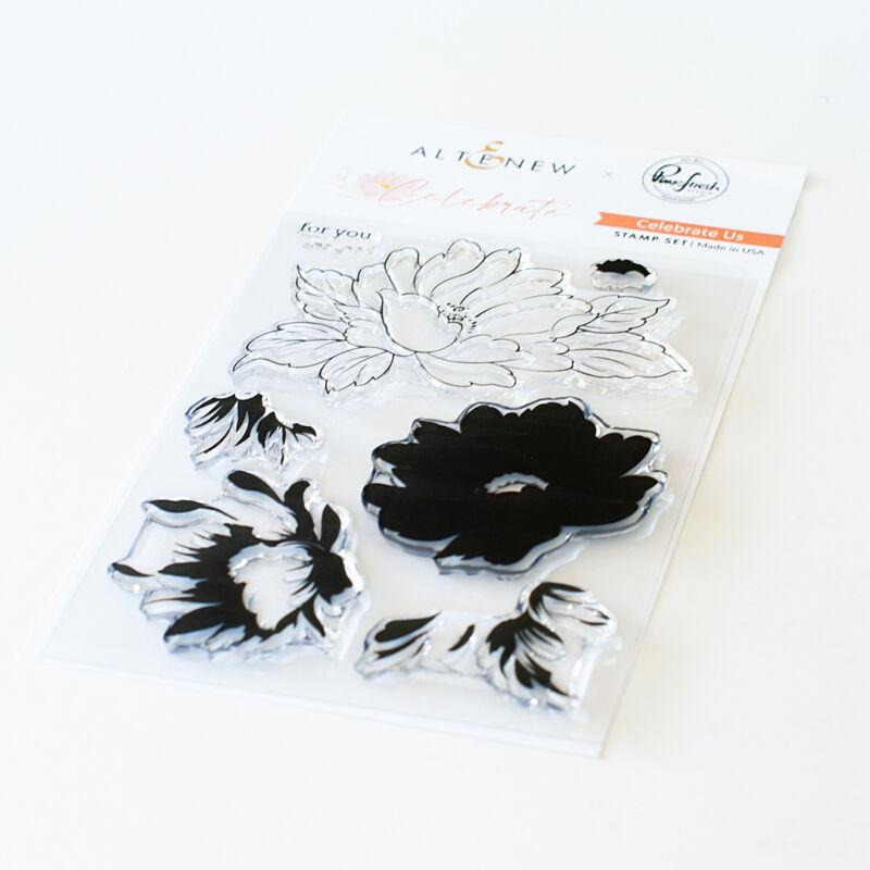 Pinkfres Studio + Altenew - Celebrate 4x6 Stamp Set - Celebrate us
