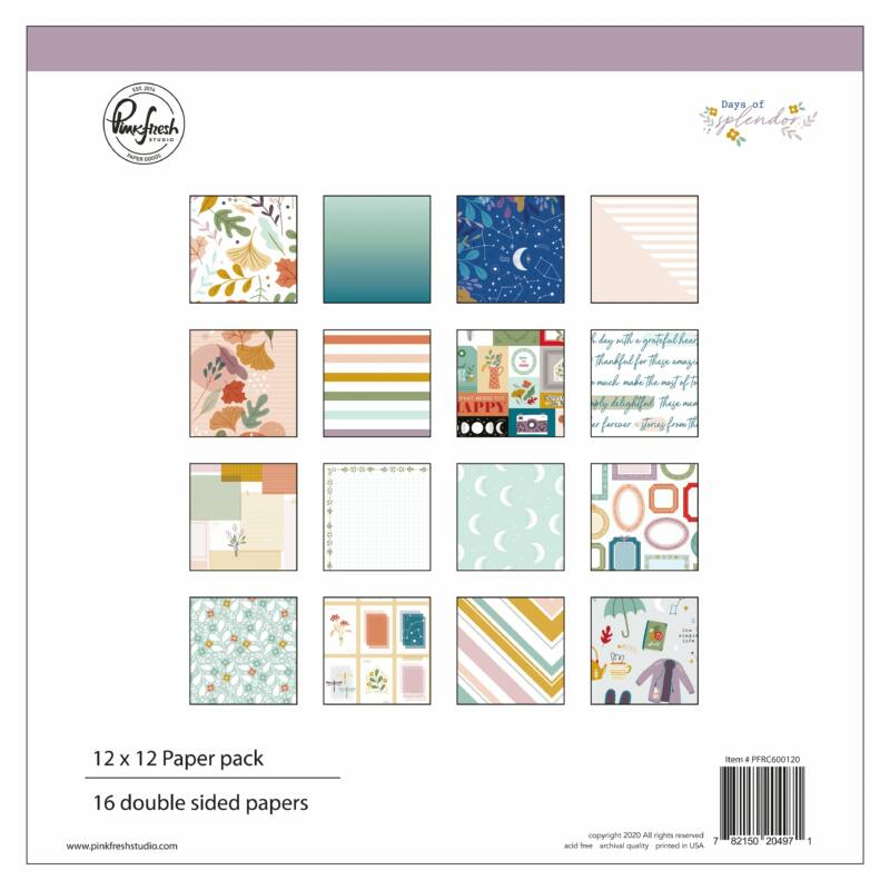 Pinkfresh Studio - Days of Splendor 12x12 Paper Kit