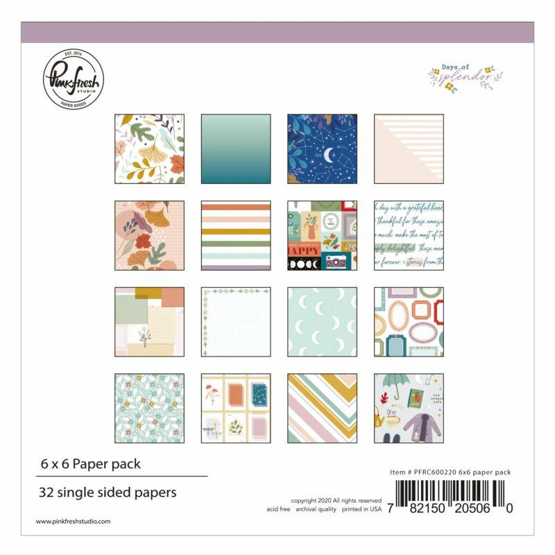 Pinkfresh Studio - Days of Splendor 6x6 Paper Pad