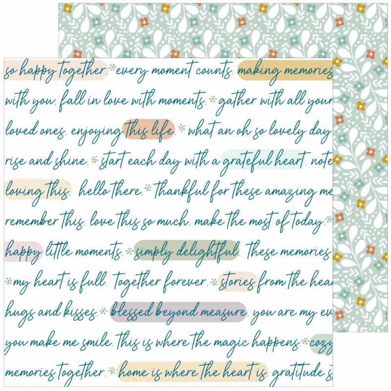 Pinkfresh Studio - Days of Splendor 12x12 Paper - Grateful heart