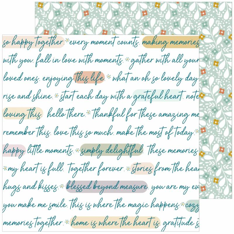 Pinkfresh Studio - Days of Splendor 12x12 Paper - Grateful heart