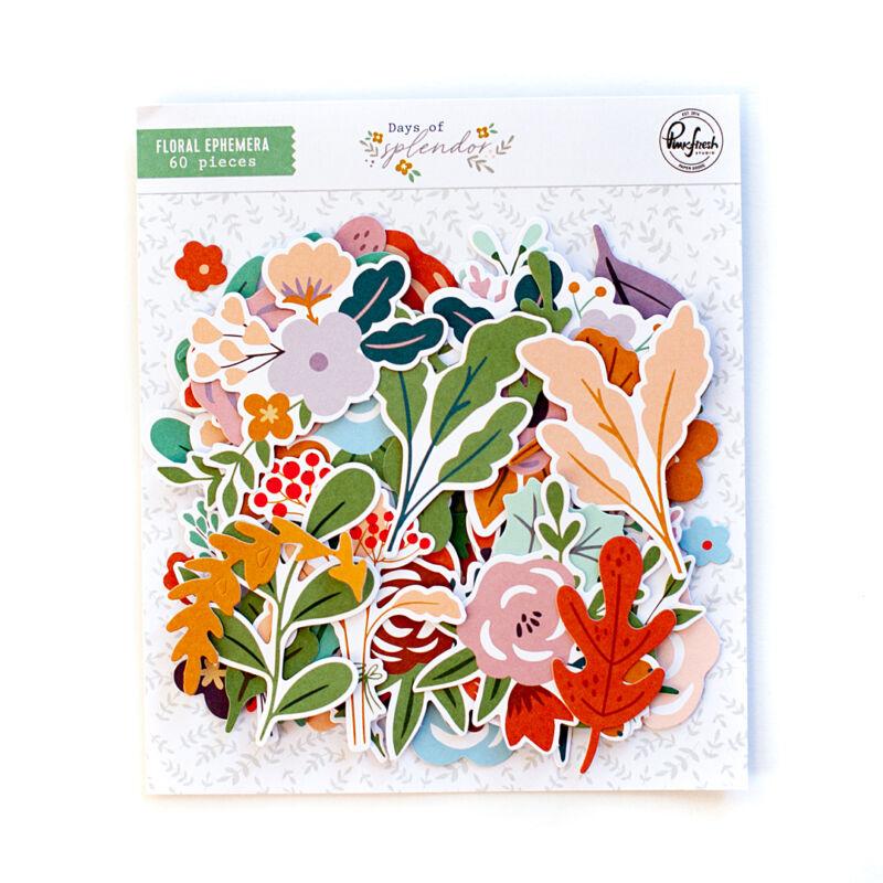 Pinkfresh Studio - Days of Splendor Floral Ephemera