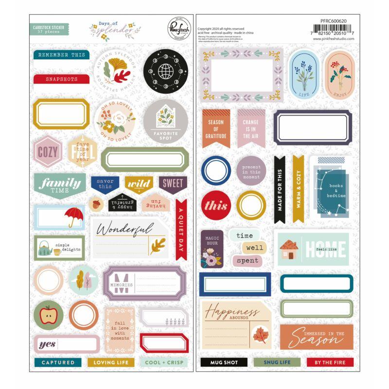 Pinkfresh Studio - Days of Splendor 6x12 Cardstock Stickers