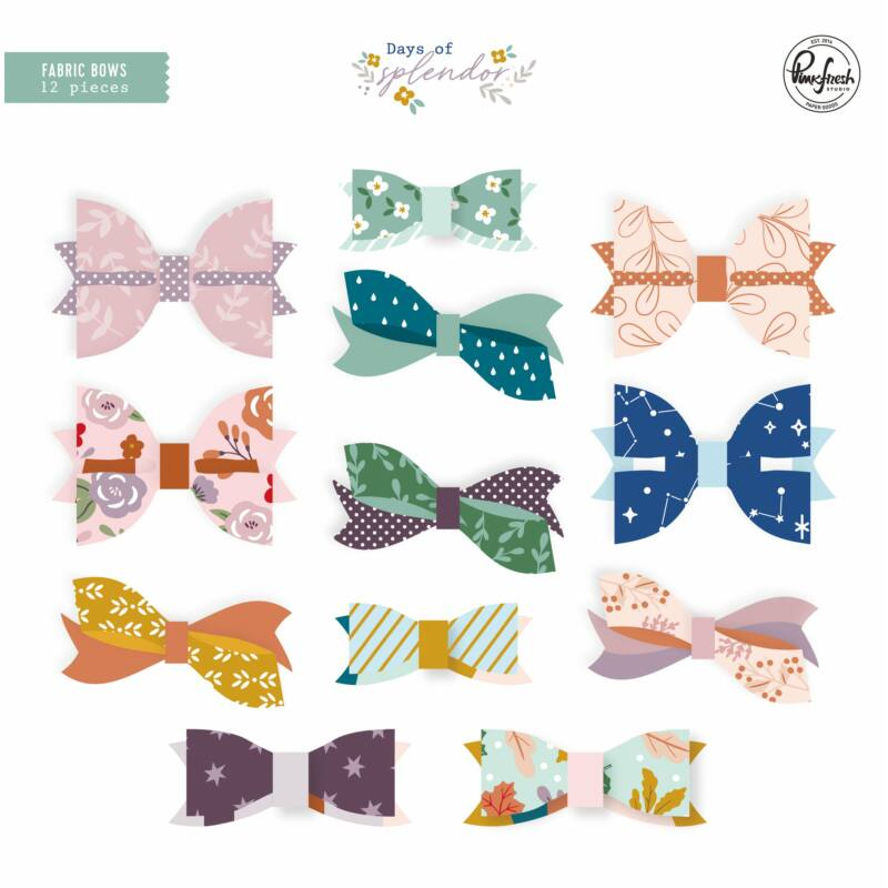 Pinkfresh Studio - Days of Splendor Fabric Bows