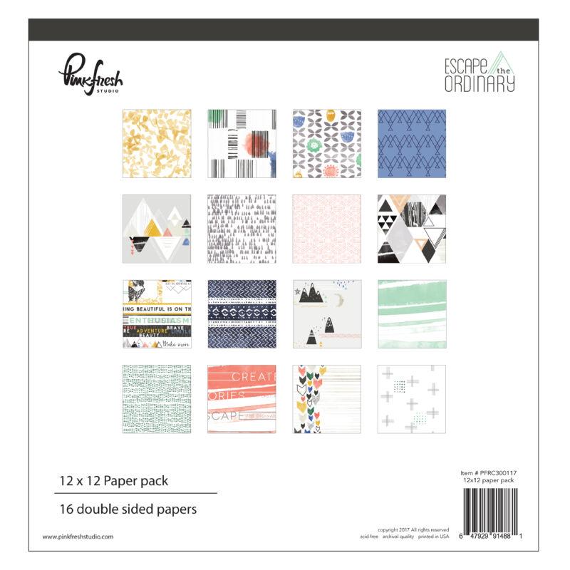 Pinkfresh Studio - Escape the Ordinary 12x12 Paper Pad