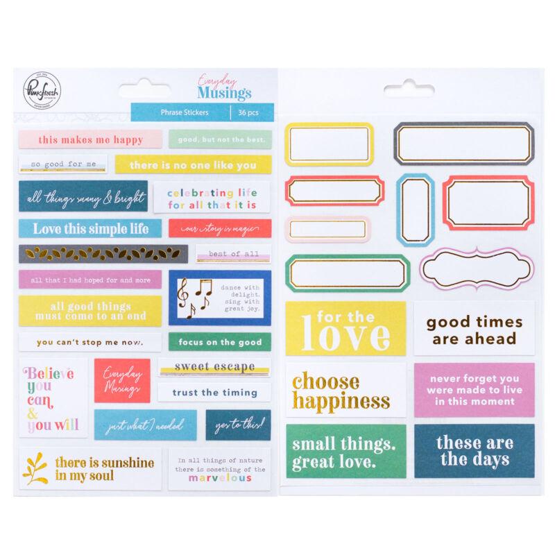 Pinkfresh Studio - Everyday Musings Phrase Stickers
