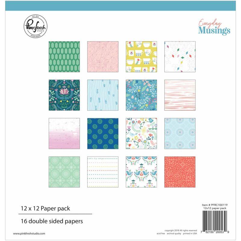 Pinkfresh Studio - Everyday Musings 12x12 Paper Pack