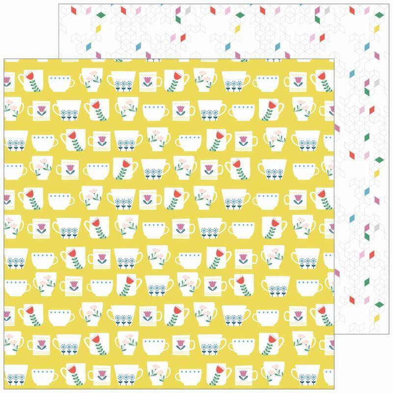 Pinkfresh Studio - Everyday Musings 12x12 Paper - Full of joy