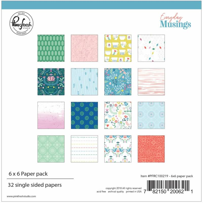 Pinkfresh Studio - Everyday Musings 6x6 Paper Pack