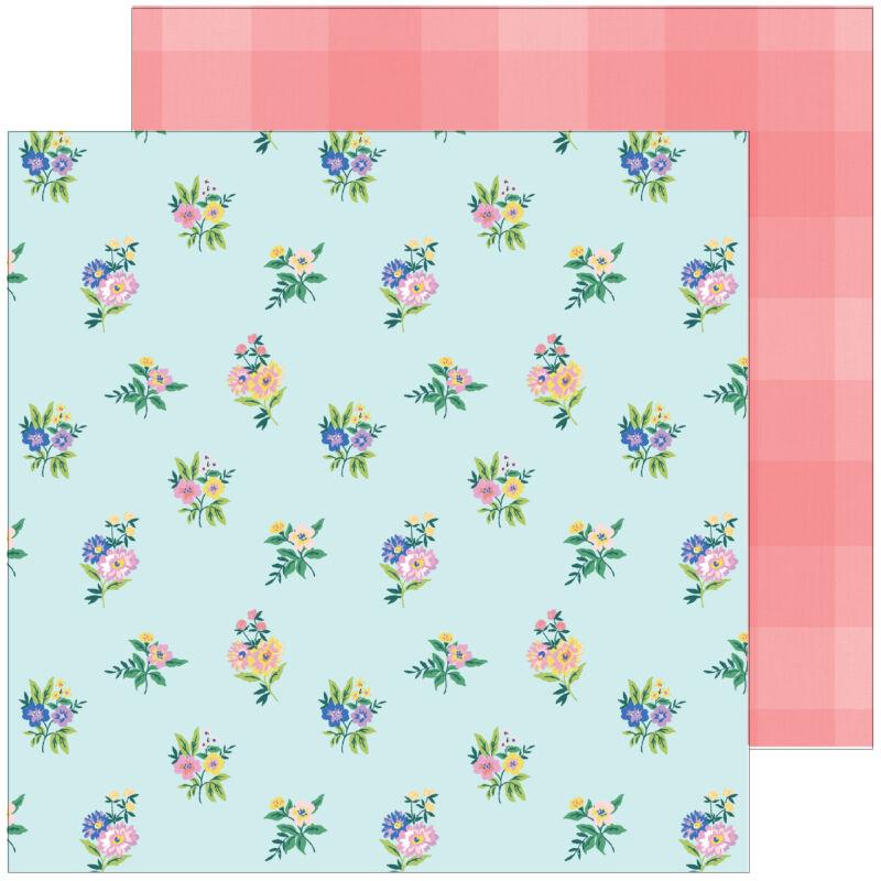 Pinkfresh Studio - Happy Blooms 12x12 Paper - Flower Patch