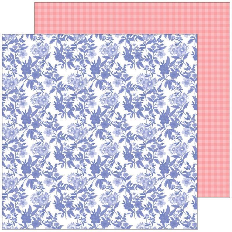 Pinkfresh Studio - Happy Blooms 12x12 Paper - Daydream