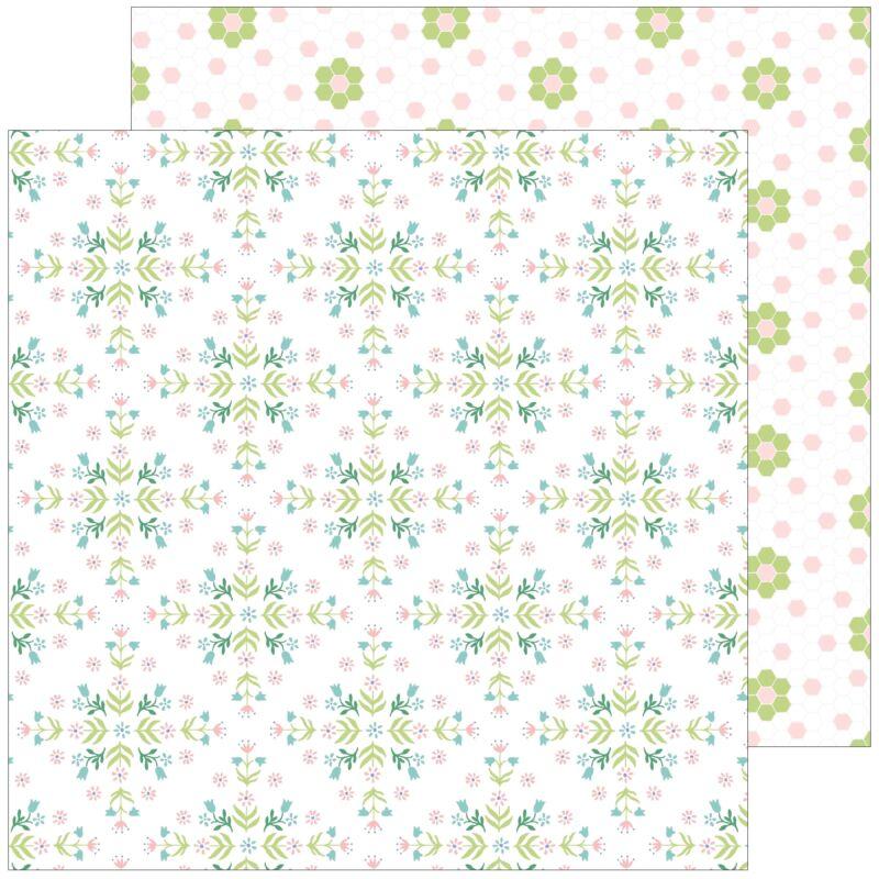 Pinkfresh Studio - Happy Blooms 12x12 Paper - Together