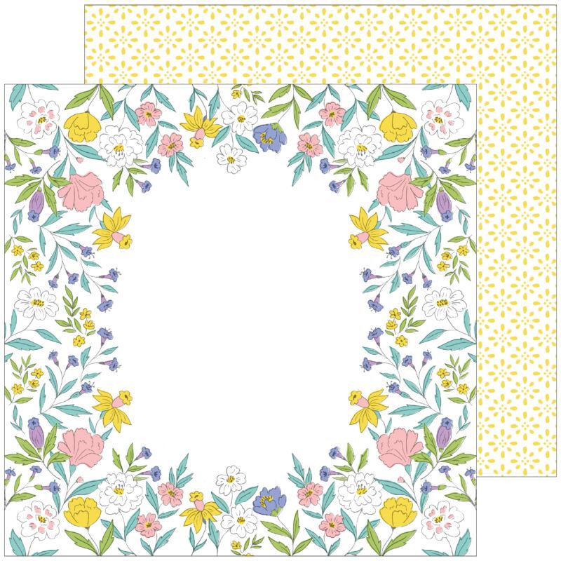 Pinkfresh Studio - Happy Blooms 12x12 Paper - Heirloom