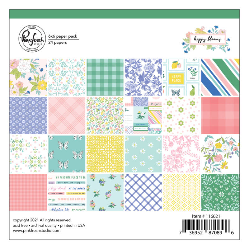 Pinkfresh Studio - Happy Blooms 6x6 paper pad