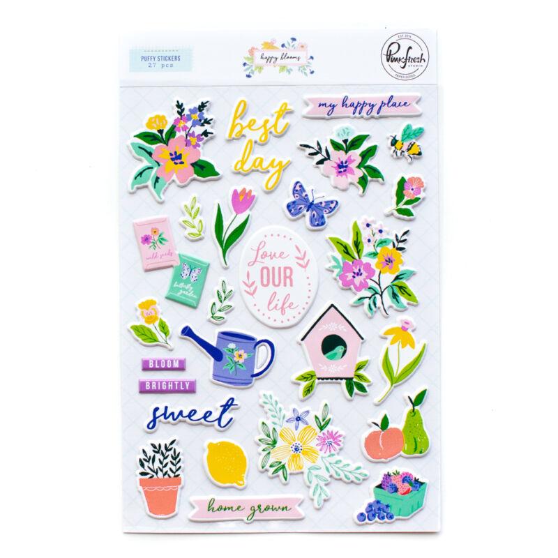 Pinkfresh Studio - Happy Blooms Puffy Sticker