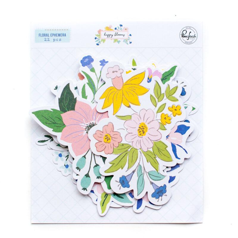 Pinkfresh Studio - Happy Blooms Floral Ephemera