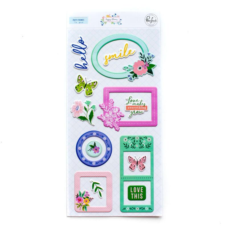 Pinkfresh Studio - Happy Blooms Puffy Frames