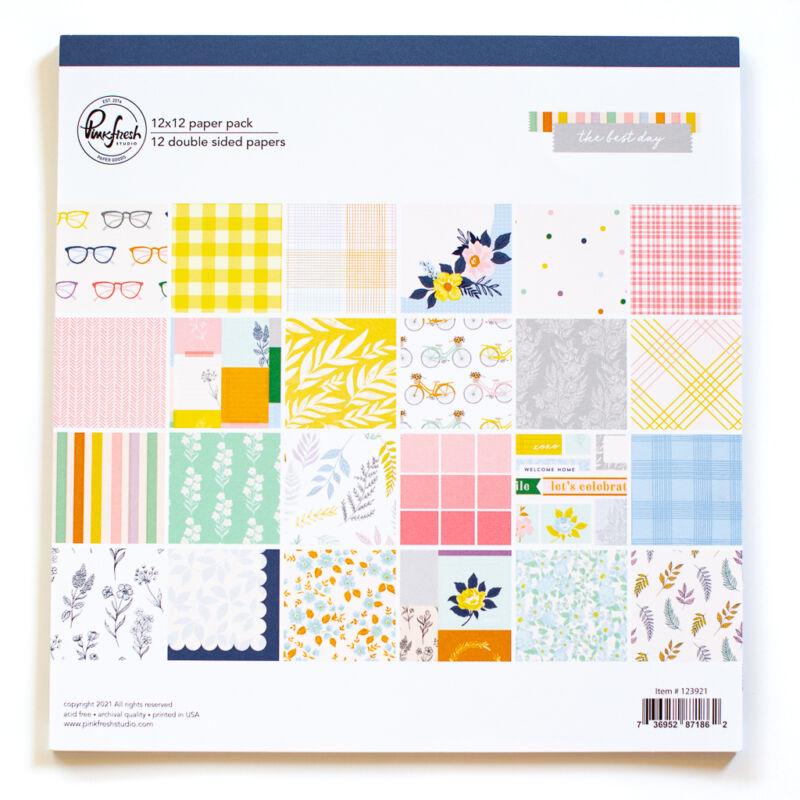 Pinkfresh Studio - The Best Day 12x12 Paper Pack