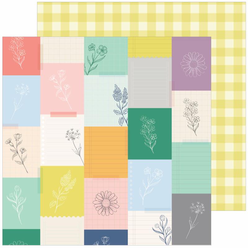Pinkfresh Studio - The Best Day 12x12 Paper - Harvest Market