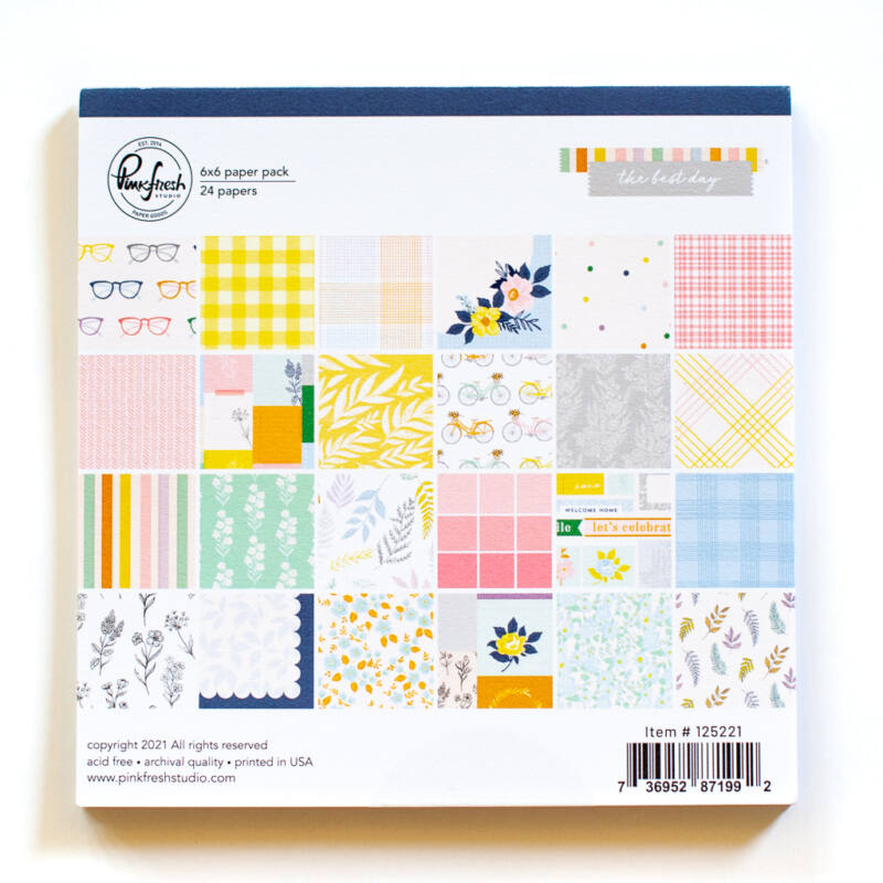 Pinkfresh Studio - The Best Day 6x6 Paper Pad - Double Sided