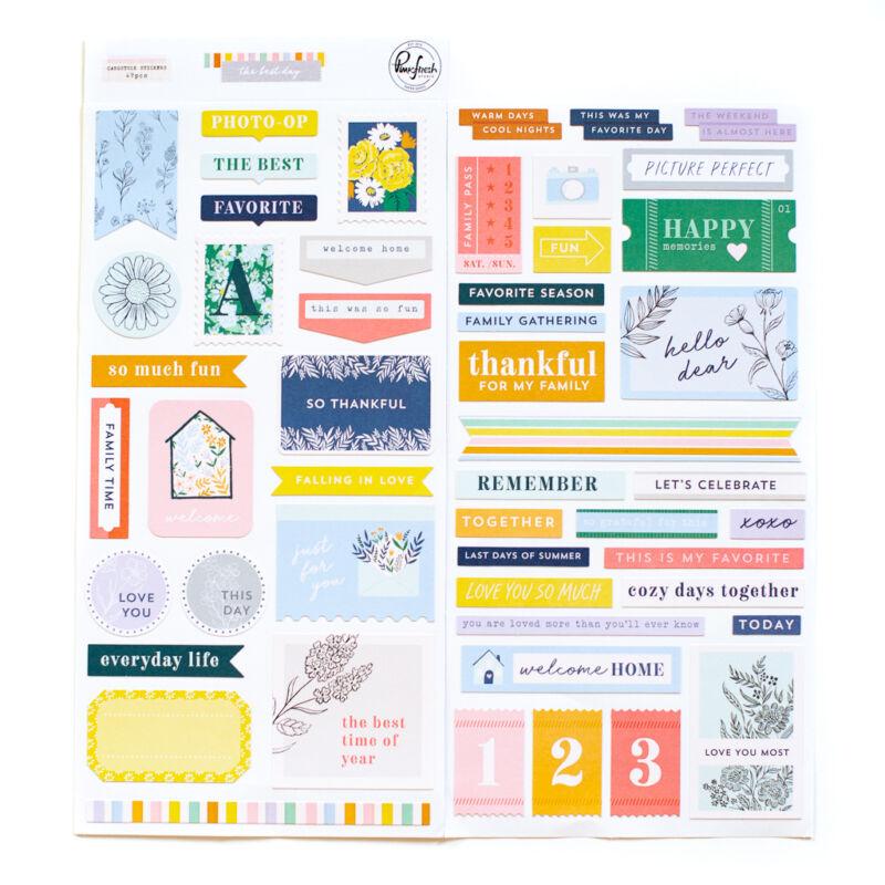 Pinkfresh Studio - The Best Day 6x12 Cardstock Stickers