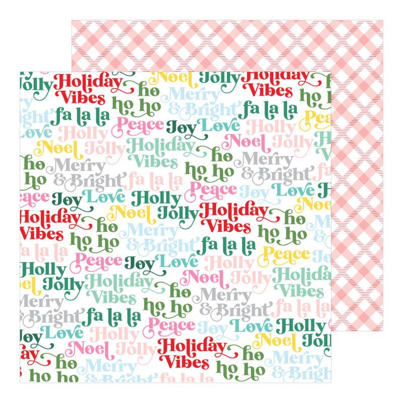Pinkfresh Studio - Holiday Magic 12x12 Paper - Holly Jolly