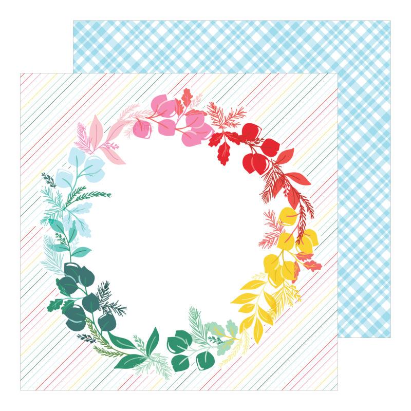Pinkfresh Studio - Holiday Magic 12x12 Paper - Deck the Halls