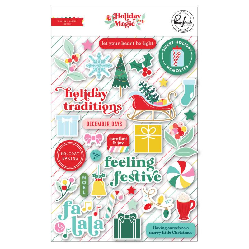 Pinkfresh Studio - Holiday Magic Puffy Stickers
