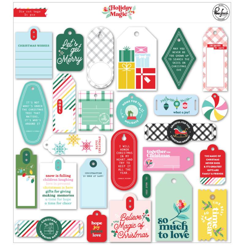 Pinkfresh Studio - Holiday Magic Die Cut Tags