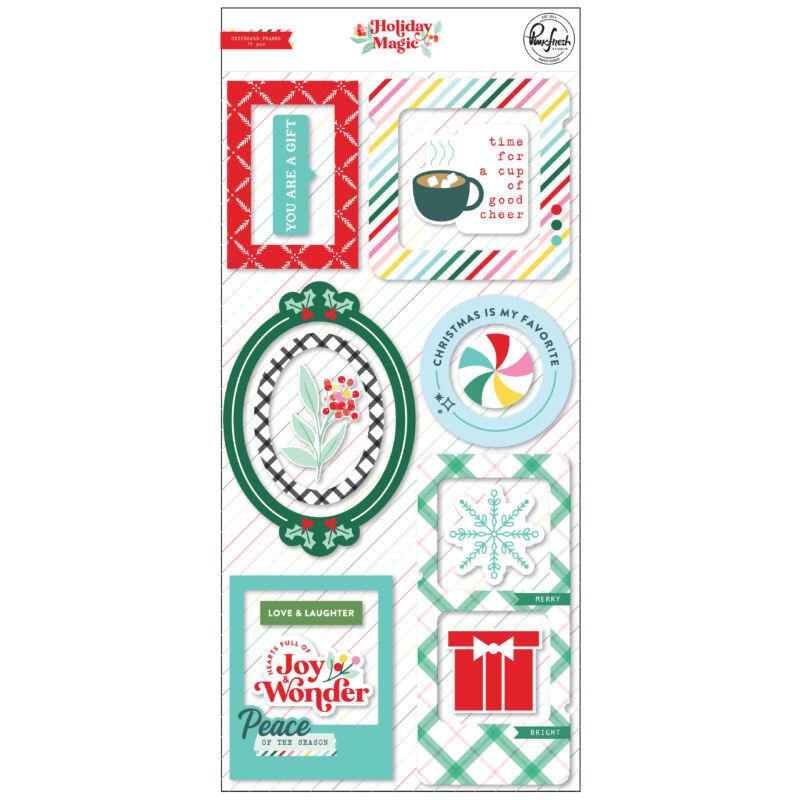 Pinkfresh Studio - Holiday Magic Chipboard Frames