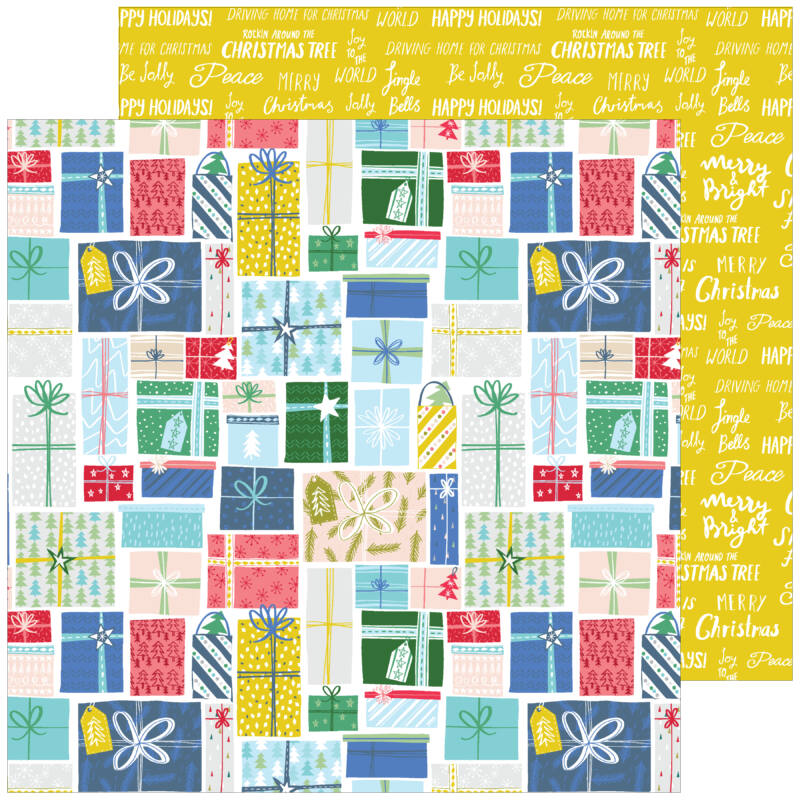 Pinkfresh Studio - Home for the Holidays 12x12 Paper - Holiday Gifts
